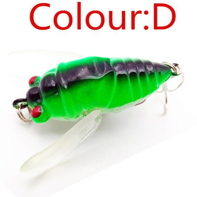 1Pcs Topwater Insects Fishing Lure 4.7Cm 6G Hard Bait Bass Crankbait Flying-WDAIREN fishing gear Store-D-Bargain Bait Box