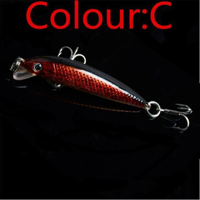1Pcs Topwater Swim Wobbler Fishing Lure 5.5Cm 3.5G Artificial Hard Crank Bait-WDAIREN fishing gear Store-C-Bargain Bait Box