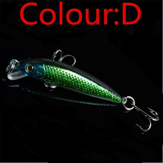 1Pcs Topwater Swim Wobbler Fishing Lure 5.5Cm 3.5G Artificial Hard Crank Bait-WDAIREN fishing gear Store-D-Bargain Bait Box