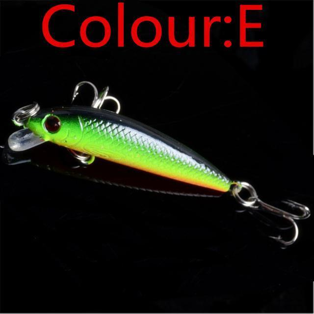 1Pcs Topwater Swim Wobbler Fishing Lure 5.5Cm 3.5G Artificial Hard Crank Bait-WDAIREN fishing gear Store-E-Bargain Bait Box