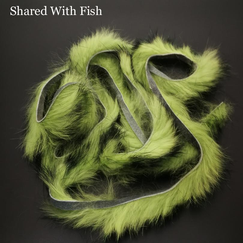 1Pcs Vertical Cutting Rabbit Hair Strips Genuine Rabbit Fur Strip For Fly-Fly Tying Materials-Bargain Bait Box-Green 1pcs-Bargain Bait Box