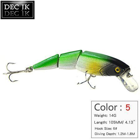 1Ps Minnow Artificial Bait For Sea Fishing Wobblers Lifelike Fishing Lure 3-JK Outdoor-C5 1PCS-Bargain Bait Box