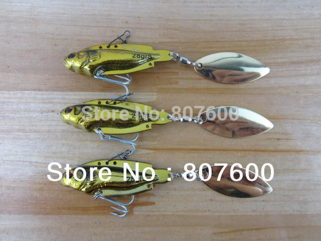 1Xfishing Spoon Metal Vib Lure Sinking Vmc Hook Ball Bearing System 3D Eyes-Blade Baits-Bargain Bait Box-Bargain Bait Box