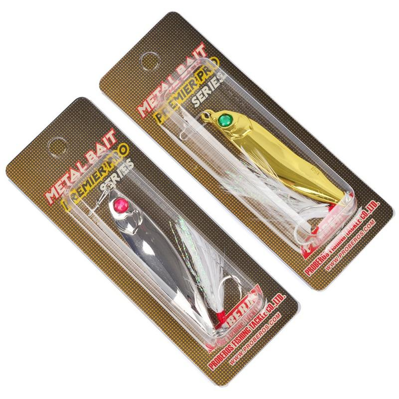 2 Colors 1 Pcs Gear Bass Emulational Bait Spoon Tackle Fishing Tool-Casting & Trolling Spoons-Bargain Bait Box-J15-Bargain Bait Box