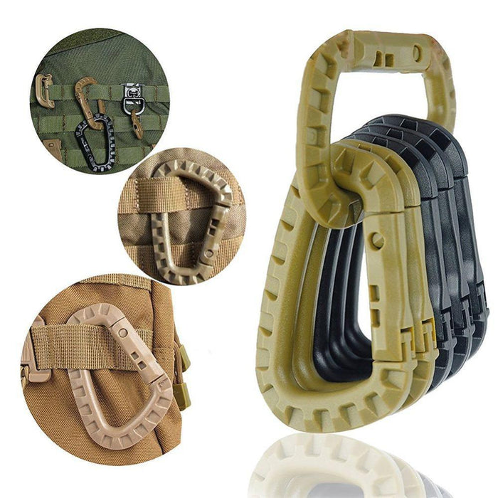 2 Pcs/Lot Edc Camping Bag Backpack Webbing Buckle Outdoor Camp Tactical Strap-GYMFORWARD Official Store-Tan-Bargain Bait Box
