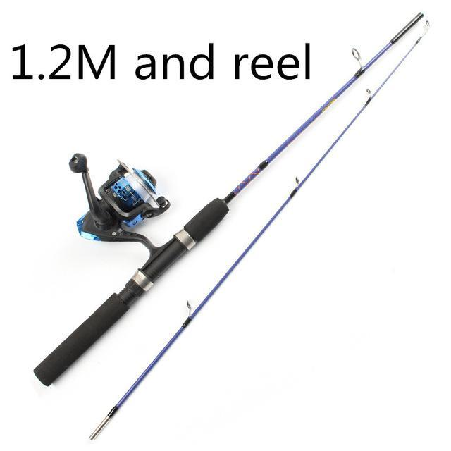 2 Tip Spinning Portable Ice Fishing Rod 1.2M/1.5M Rod And Fishing Reel And-Ice Fishing Rod & Reel Combos-Bargain Bait Box-Red-Bargain Bait Box