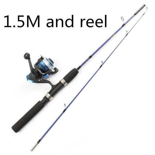 2 Tip Spinning Portable Ice Fishing Rod Fishing Suit Combination 1.2M/1.5M Rod-Ice Fishing Rod & Reel Combos-Bargain Bait Box-White-Bargain Bait Box