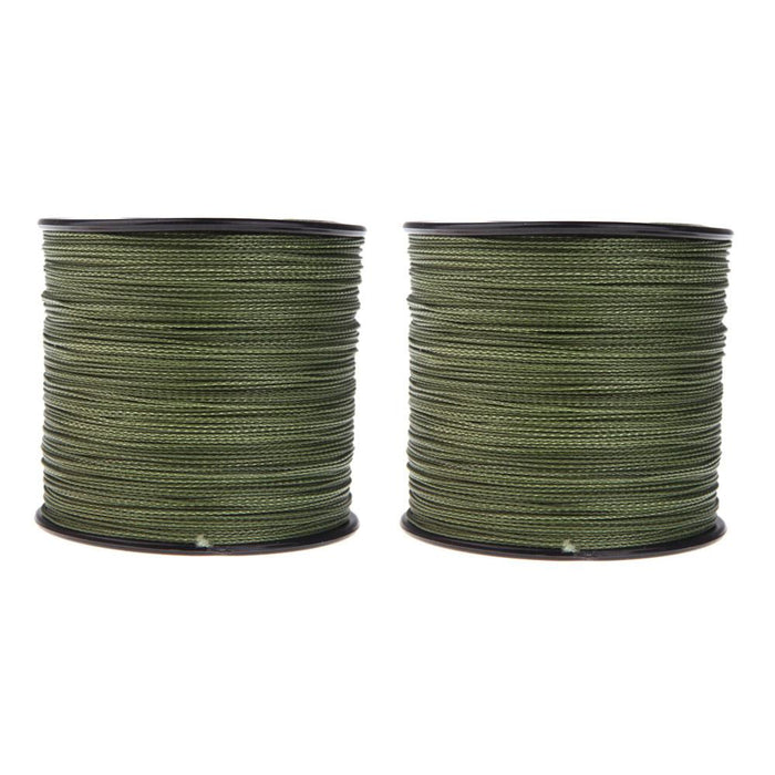 2 X 500M 30Lb Dyneema Braided Fishing Line Armygreen-Cycling Lifestyle Store-Bargain Bait Box