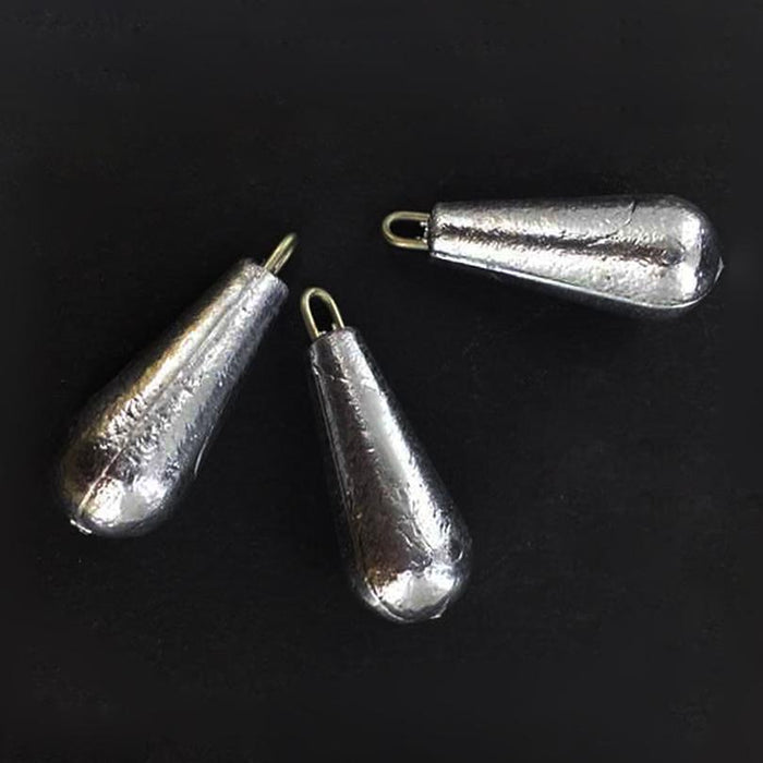 20 Pcs Lead Sinkers Sinkers Slip Sinker 10-100G Water Drop Lead Weight Tackle-Dropshot Weights-Bargain Bait Box-20Pcs 30g-Bargain Bait Box