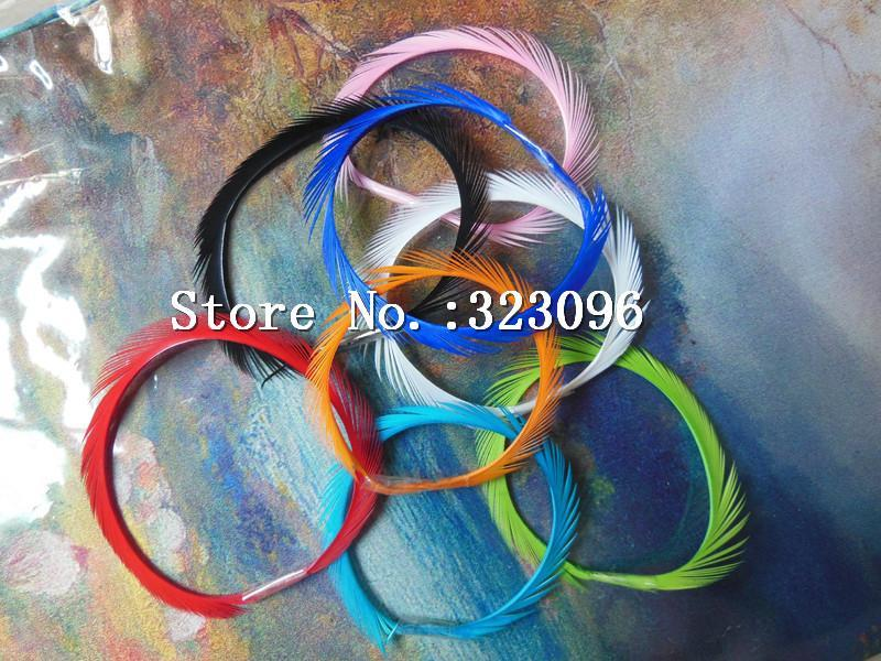 200Pcs 13-18 Cm Dyed Color Mix Real Goose Feather Trim For Mask Hair Wedding-Fly Tying Materials-Bargain Bait Box-Bargain Bait Box