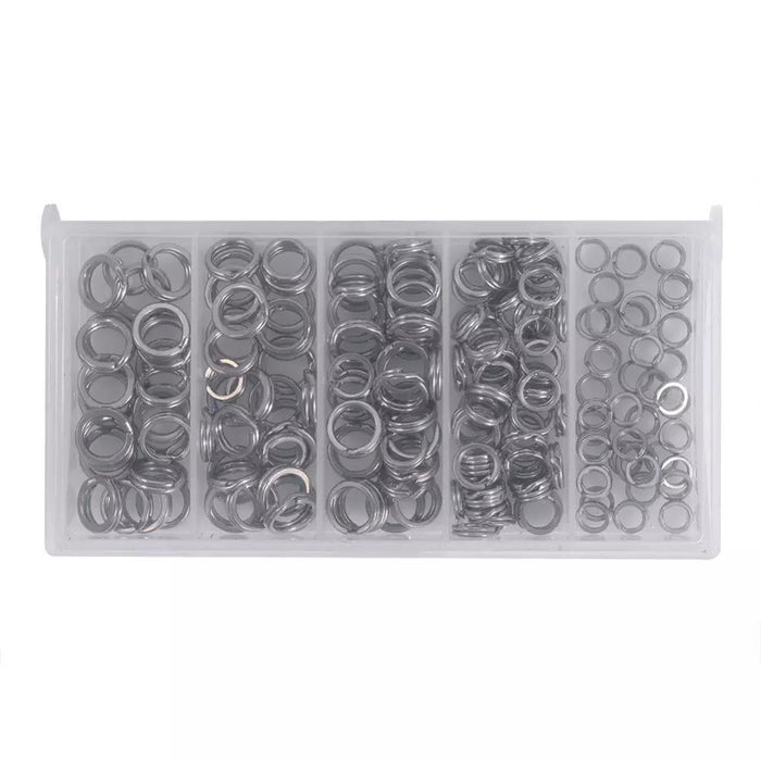 200Pcs Heavy Duty Stainless Steel Fishing Split Rings Lure Solid Ring Loop For-Split Rings-chenyuanfei2-Bargain Bait Box