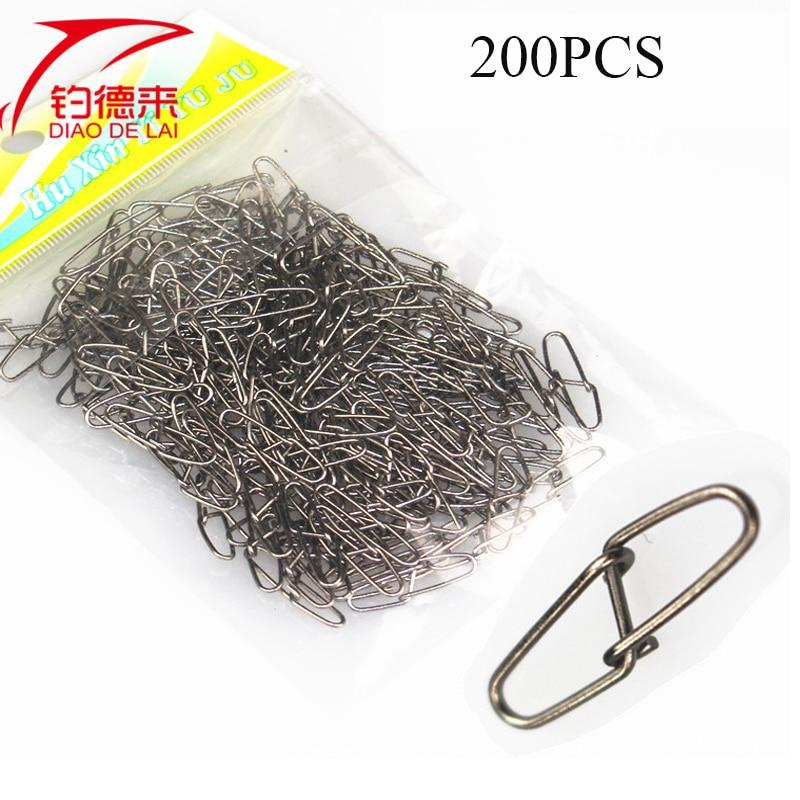 200Pcs/Bag 3# Fishing Hook Connector Stainless Steel Hook Fast Clip Lock Snap-Fishhooks-Enrich Your Outdoor Life Store-3-Bargain Bait Box