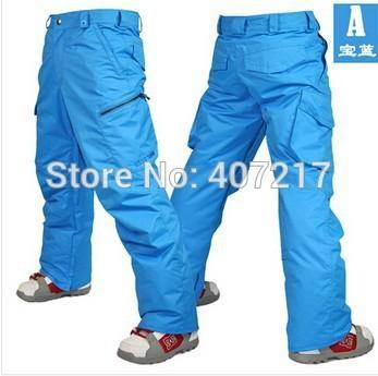 2014 Mens Blue Ski Pants Coffee Snowboarding Pants For Men Green Sports Snow-Snow Pants-Bargain Bait Box-Blue-S-Bargain Bait Box