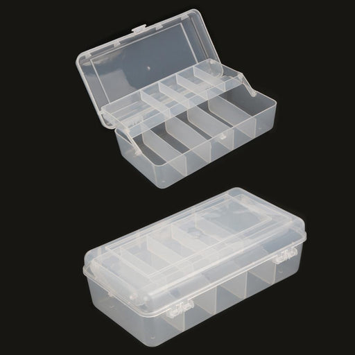 20Cm*10Cm*6.5Cm 2 Trays 10 Compartments Fish Tackle Box Plastic Storage Box-Compartment Boxes-Bargain Bait Box-Bargain Bait Box