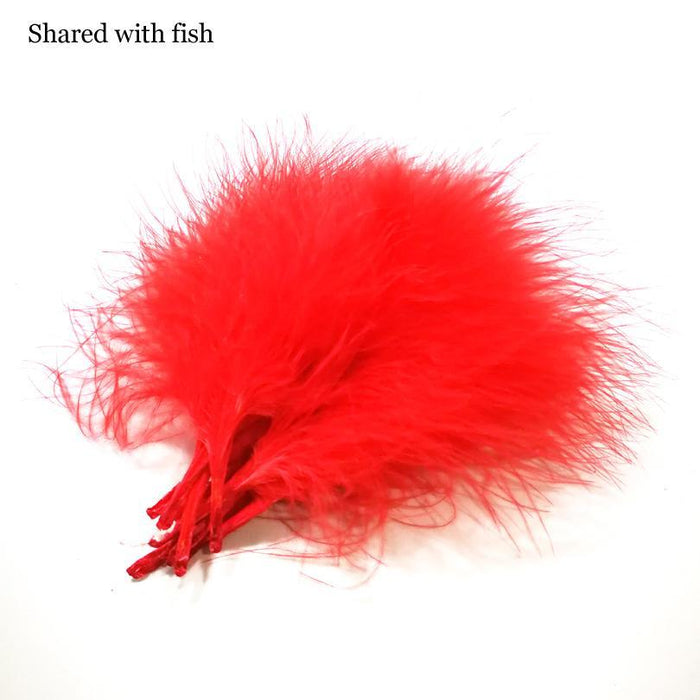 20Pcs 2 Colors Cambo Turkey Marabou Blood Feathers Fly Fishing Tying Material-Fly Tying Materials-Bargain Bait Box-Bargain Bait Box