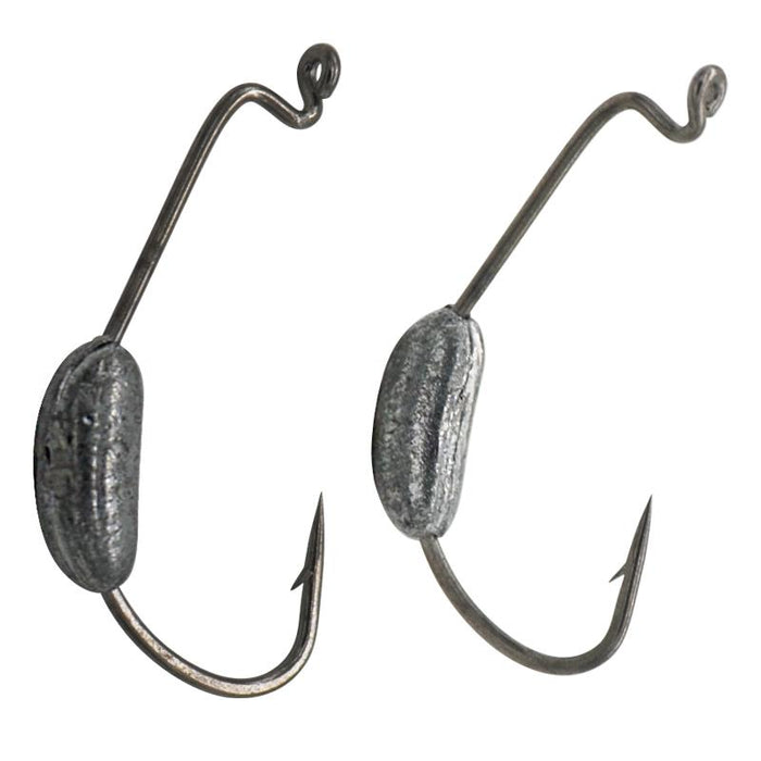 20Pcs Lead Weight Crank Hook Fishing Hooks Jig Fishhook For Soft Tackle Para