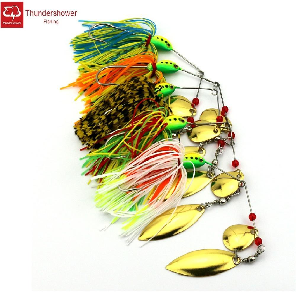 20Pcs Metal Spinnerbait Sequins Lure Silicone Skirt Jig 16.3G Spinner Beard-Spinnerbaits-Bargain Bait Box-Bargain Bait Box