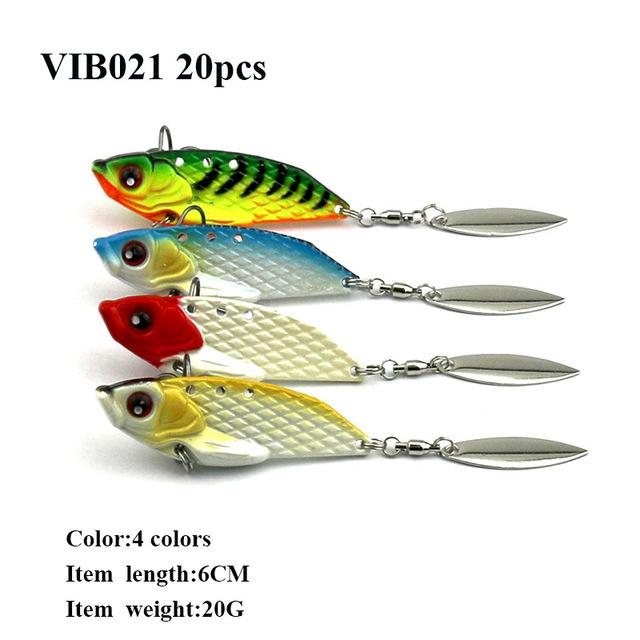 20Pcs Metal Vib Hard Bait 6 Models Bass Lure-Blade Baits-Bargain Bait Box-VIB021-Bargain Bait Box