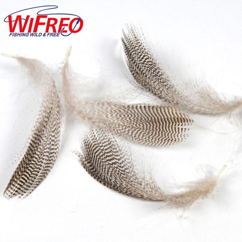 [ 20Pcs/Bag ] Wifreo Natural Barred Mallard Duck Flank Feathers Wild Goose-Fly Tying Materials-Bargain Bait Box-Bargain Bait Box