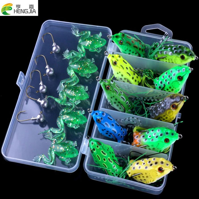 20Pcs/Box Fishing Set Frog Fishing Box Package Soft Hj098-Soft Bait Kits-Bargain Bait Box-Bargain Bait Box