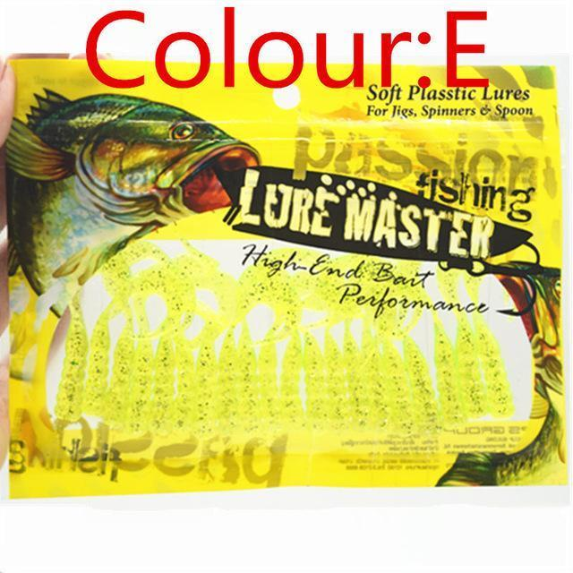 20Pcs/Lot 48Mm 1G Fishing Soft Lure Worms Swing Curly Tail Grub Artificial-WDAIREN KANNI Store-E-Bargain Bait Box