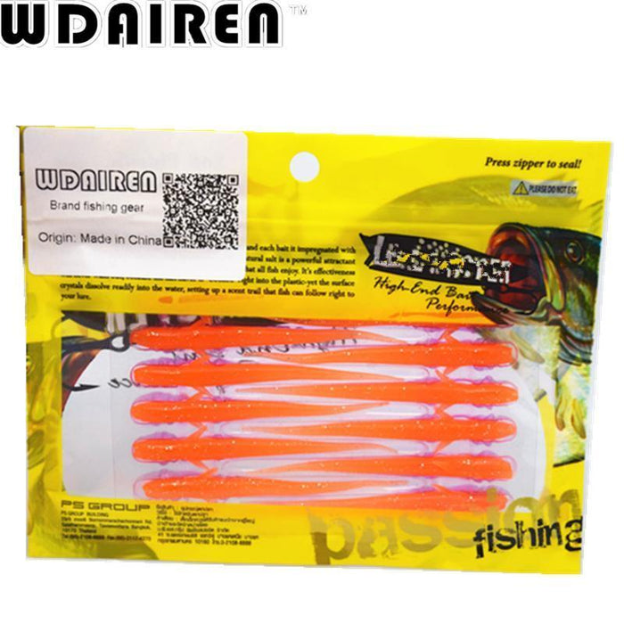 20Pcs/Lot 7.5Cm 1.2G Lure Spiral Long Fish Soft Bait Artificial Baits Weest-WDAIREN KANNI Store-A-Bargain Bait Box
