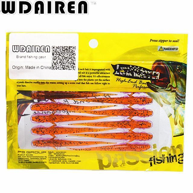 20Pcs/Lot 7.5Cm 1.2G Lure Spiral Long Fish Soft Bait Artificial Baits Weest-WDAIREN KANNI Store-B-Bargain Bait Box