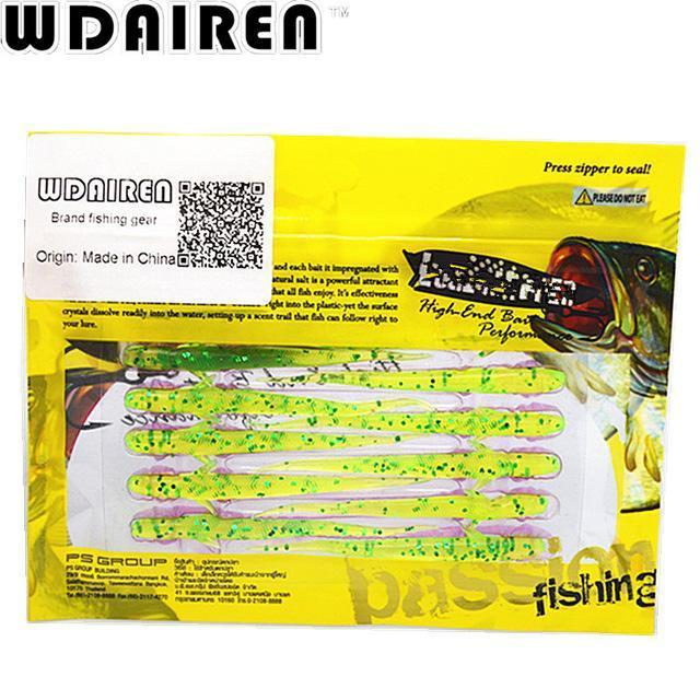 20Pcs/Lot 7.5Cm 1.2G Lure Spiral Long Fish Soft Bait Artificial Baits Weest-WDAIREN KANNI Store-E-Bargain Bait Box