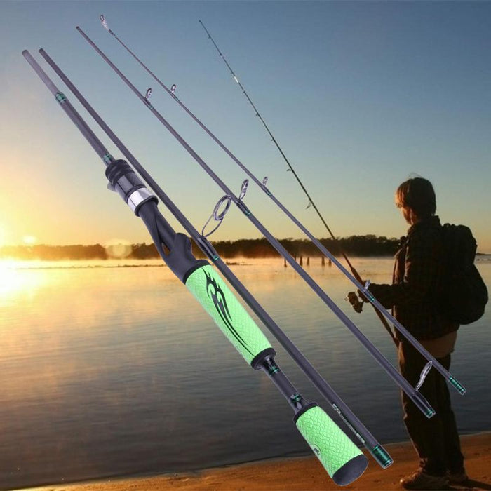 2.1 2.4 2.7M Lure Rod 4 Section Carbon Spinning Fishing Rod Travel Rod Casting-Spinning Rods-walkinhorizon Store-Bargain Bait Box