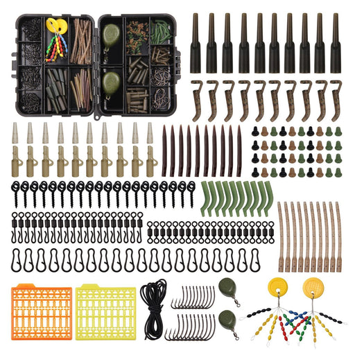 217Pcs/Box Carp Fishing Tackle Box Anti Tangle Sleeve Line Aligner Bait Screw-Fishing Tackle Boxes-JSHANMEI Official Store-Bargain Bait Box
