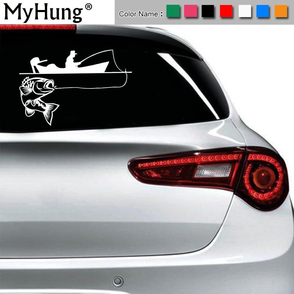 25.4*17.4Cm Recreational Sport Fishing Vinyl Decals Fish Animal Cartoon-Fishing Decals-Bargain Bait Box-Black-Bargain Bait Box