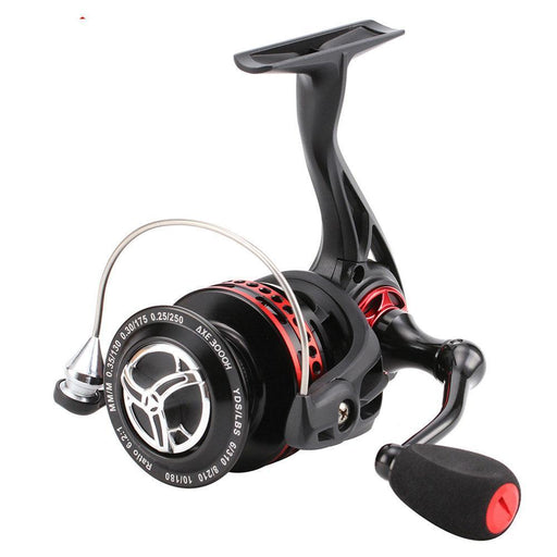 259 - 292G 2000 - 4000 Series Spinning 6.2:1 Black Red Full Metal Body-Spinning Reels-NUNATAK Fishing Store-2000 Series-Bargain Bait Box