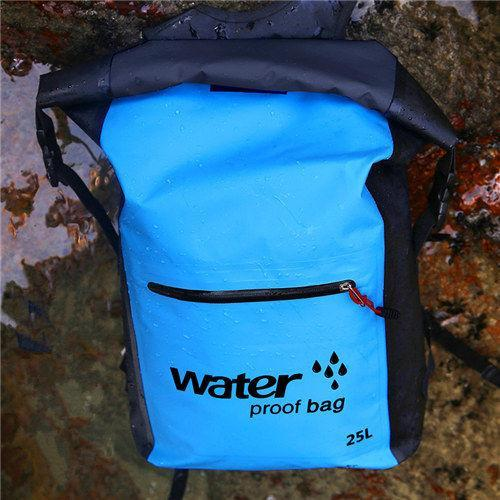 25L Waterproof Dry Bag Backpack Sack Storage Bag Rafting Sports Kayaking-Dry Bags-Bargain Bait Box-Blue Color-Bargain Bait Box