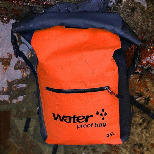 25L Waterproof Dry Bag Backpack Sack Storage Bag Rafting Sports Kayaking-Dry Bags-Bargain Bait Box-Orange-Bargain Bait Box
