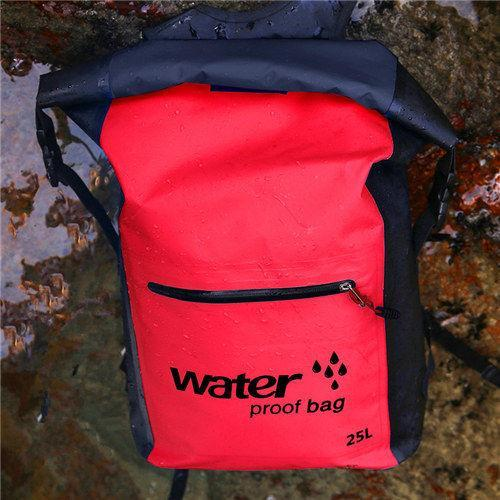 25L Waterproof Dry Bag Backpack Sack Storage Bag Rafting Sports Kayaking-Dry Bags-Bargain Bait Box-Red Color-Bargain Bait Box