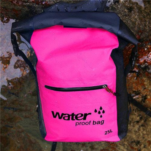 25L Waterproof Dry Bag Backpack Sack Storage Bag Rafting Sports Kayaking-Dry Bags-Bargain Bait Box-Rose Red-Bargain Bait Box