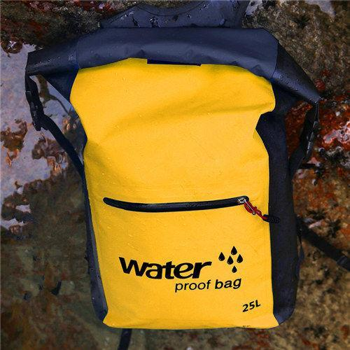 25L Waterproof Dry Bag Backpack Sack Storage Bag Rafting Sports Kayaking-Dry Bags-Bargain Bait Box-Yellow Color-Bargain Bait Box