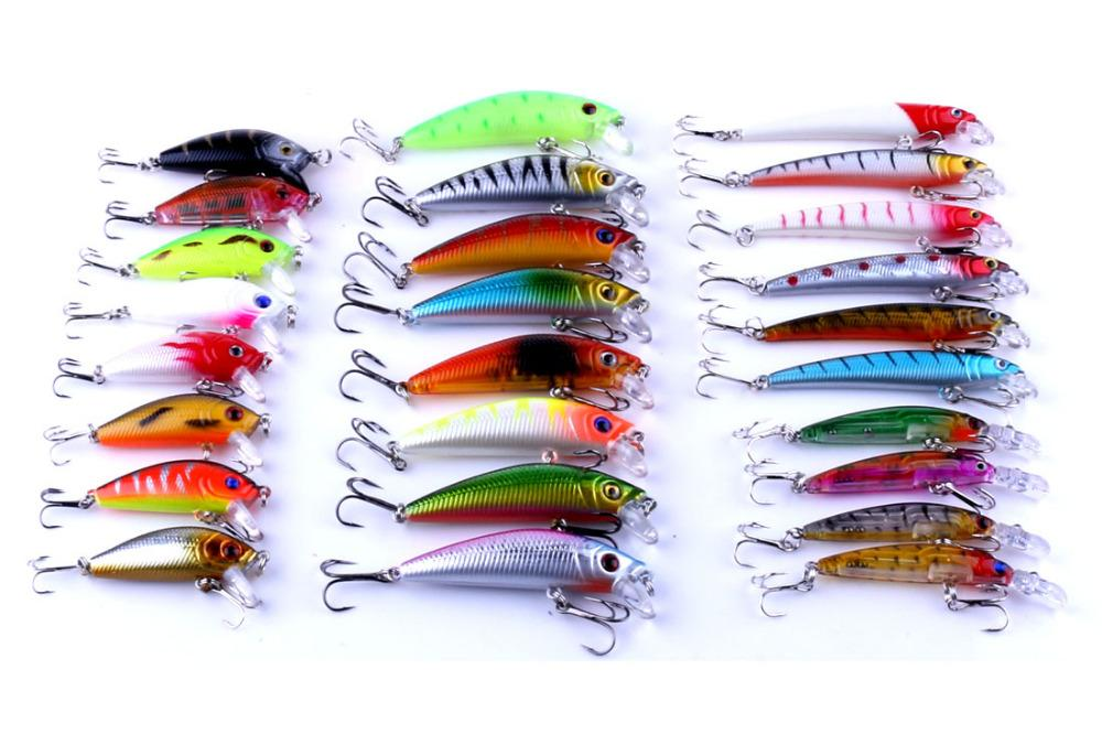 26Pcs/Lot Bait Set Mini Swimbait With Treble Hook Spinner-Hard Bait Kits-Bargain Bait Box-Bargain Bait Box