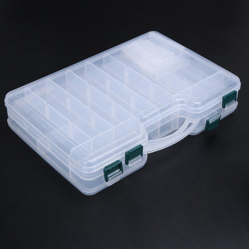 29X19X6Cm Fishing Box Compartments Double Sided Transparent Visible Plastic-Compartment Boxes-Bargain Bait Box-Bargain Bait Box
