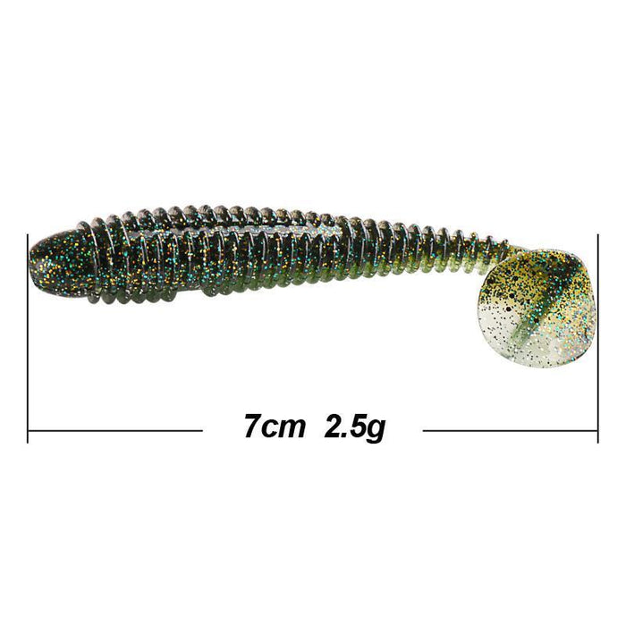 2Bags Soft Baits 70Mm95Mm120Mm T-Tail Fishing Lure Isca Artificial Para Pesca-SmartLure Store-70mm-Bargain Bait Box
