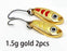 2Pcs 1.5G 3G 5G Loong Scale Metal Spoon Fishing Lure Spoon Sequin Paillette Hard-Holiday fishing tackle shop Store-1g gold 2pcs-Bargain Bait Box