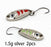 2Pcs 1.5G 3G 5G Loong Scale Metal Spoon Fishing Lure Spoon Sequin Paillette Hard-Holiday fishing tackle shop Store-1g silver 2pcs-Bargain Bait Box