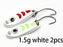 2Pcs 1.5G 3G 5G Loong Scale Metal Spoon Fishing Lure Spoon Sequin Paillette Hard-Holiday fishing tackle shop Store-1g white 2pcs-Bargain Bait Box