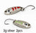 2Pcs 1.5G 3G 5G Loong Scale Metal Spoon Fishing Lure Spoon Sequin Paillette Hard-Holiday fishing tackle shop Store-3g silver 2pcs-Bargain Bait Box