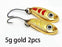 2Pcs 1.5G 3G 5G Loong Scale Metal Spoon Fishing Lure Spoon Sequin Paillette Hard-Holiday fishing tackle shop Store-5g gold 2pcs-Bargain Bait Box