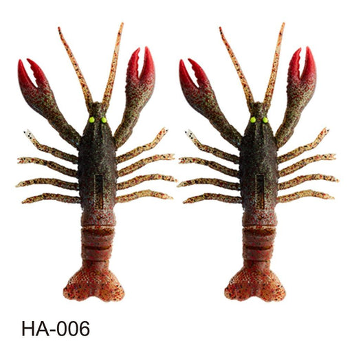 2Pcs Crazy Crawfish Soft Bait Fishing Lure Life Like Signal Crayfish Jig Head-Fishing Lures-hunt-house Store-HA-010-Bargain Bait Box