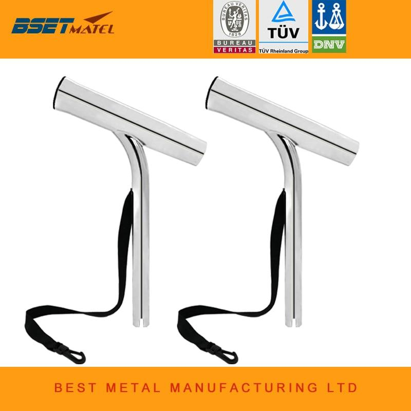 2Pcs Mirror Polished Stainless Steel 316 Outrigger Fishing Rod Pole Holder-Fishing Rods-BSET MATEL FISHING MANUFACTURE Store-Bargain Bait Box