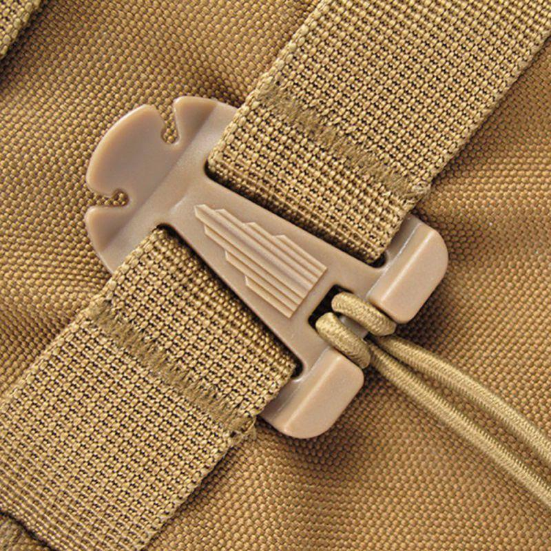 2Pcs Outdoor Elastic Rope Triangle Fixing Clip Clamp Climbing Backpack Bag Molle-Su Athletics Shop Store-WN0620B-Bargain Bait Box