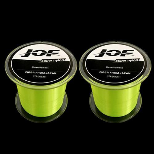2Pcs Strong Nylon Fishing Line 500M Monofilament Line Japan Material Fishline-HD Outdoor Equipment Store-Yellow-1.0-Bargain Bait Box