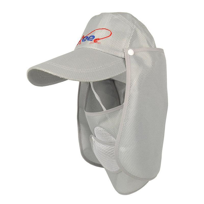 2Pcs/Lot Uv Protection Unisex Hollow Fishing Cap W/ Removable Neck Cape-Hats-Bargain Bait Box-Bargain Bait Box